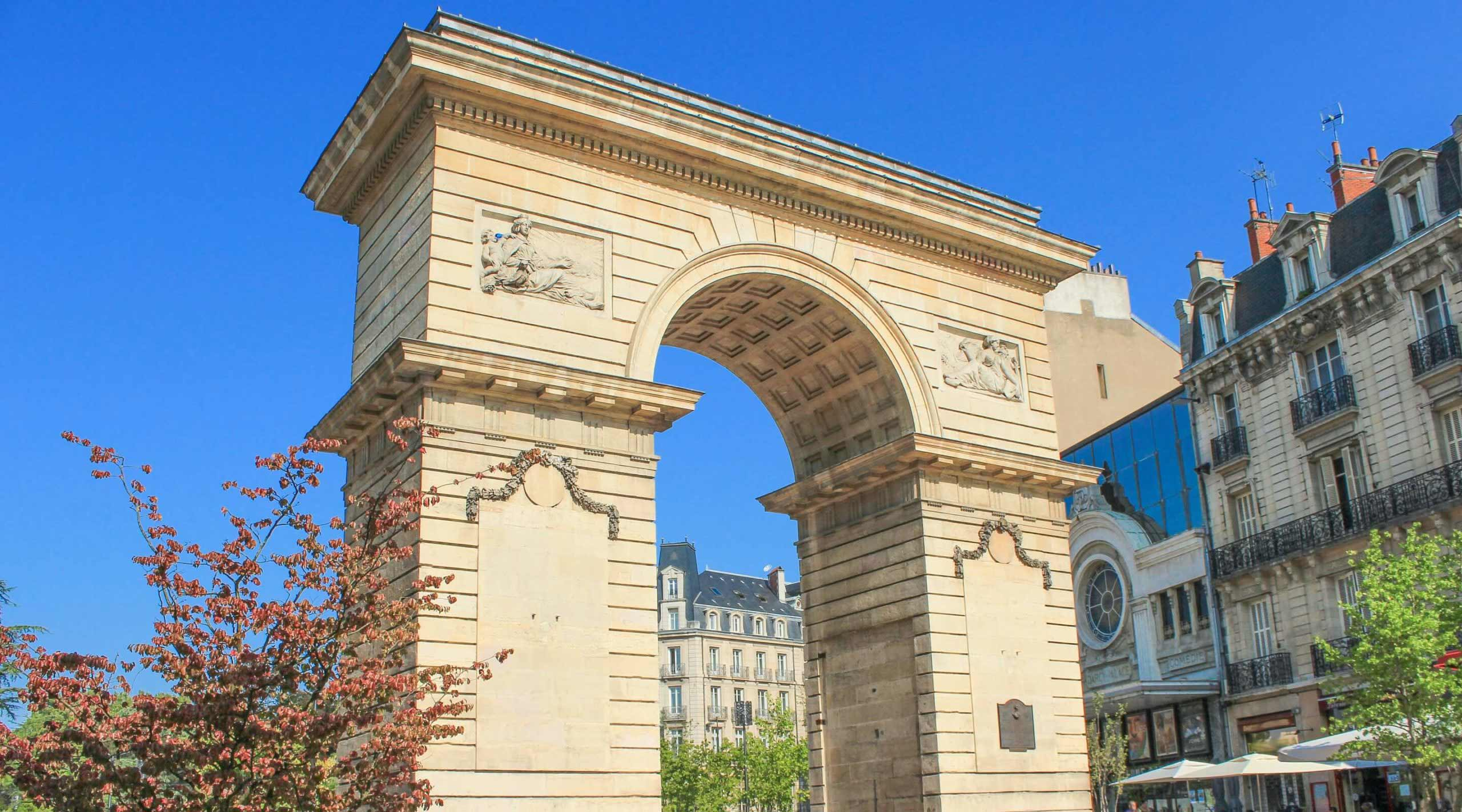 Arche Porte-Guillaume de la place Darcy à Dijon - Cabinet LAURIN